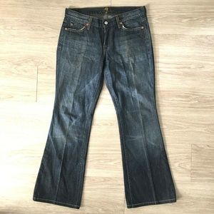 74AMK 7 for all mankind Flare Jeans Sz 29 Denim
